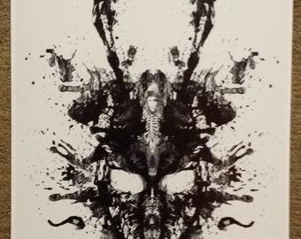 Skull Painting Etsy