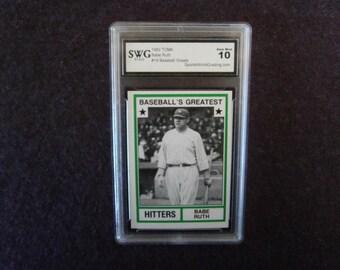 BABE RUTH Baseball Card Rare 1982 TCMA Gem Mint 10.0