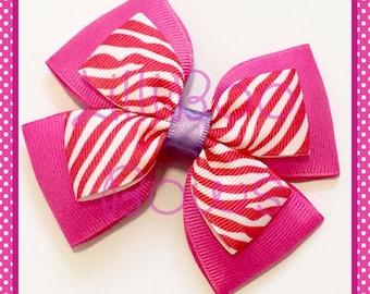Handmade Cheshire Cat Alice in Wonderland Inspired Hair Bow