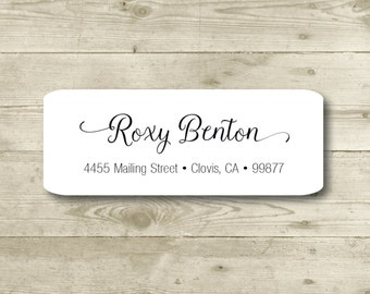 Custom Return Address Label, Personalized, MATTE, Personal, Wedding, Shower