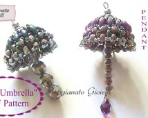 "Beaded Pendant ""Mini Umbrella"" - Bonbonniere - Key Ring"