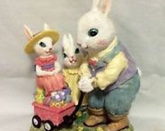 Mr Jack Rabbit with Penelope and Prudence by The Victorian Collection