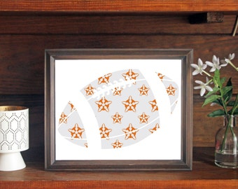 University of Texas UT Longhorn Football Print