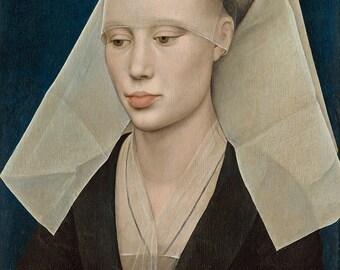 Rogier van der Weyden: Portrait of a Lady. Fine Art Print/Poster. (003946)