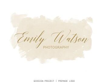 Premade photography logo Watercolor Logo Calligraphy Logo Modern Logo