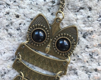Antique Brass Owl pendent long Necklace