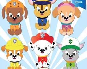 Rescue Puppies clipart, Dog clipart, Superhero clipart