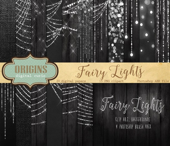 Fairy Lights Clipart Digital Paper Bokeh By