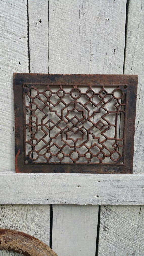 Vintage Cast Iron Grate Cast Iron Floor Grate Antique Cast