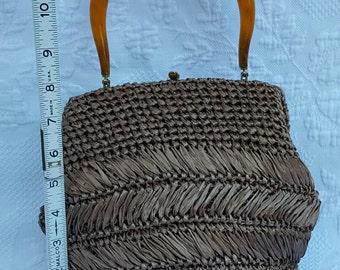 Vintage Morris Moskowitz, raffia,crochet straw