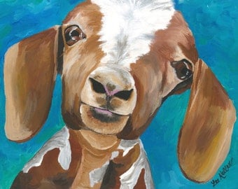 "Goat Print Instant Download ""Millie"""