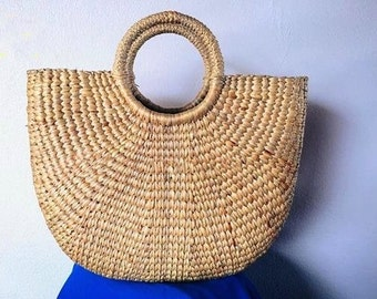 PREORDER Straw Bag Summer / Straw basket / Beach Bag / Hand bags Boho Totes / Straw tote / Tote bag / Bridesmaids Totes /pom pom bag