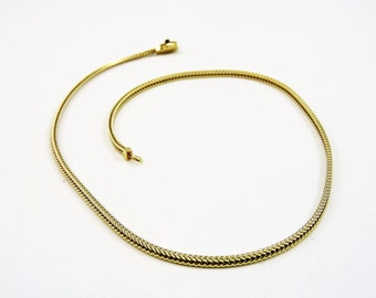 """14k Gold Foxtail Chain Necklace 16"""""""