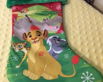 """Lion Guard Simba 20"""" Christmas Stocking Plush Cuff - Personalized"""