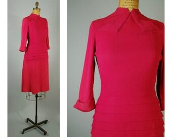Johannis dress • 1940s rayon dress