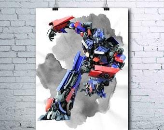 Optimus Prime Poster - Optimus Prime - Optimus Printables - Transformers - Optimus Print - Transformers Poster - Optimus Art - Printables