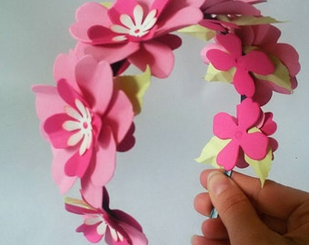 Headband flower headdress with flowers, Fascinator, floral ornaments,