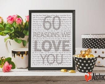 60th Birthday Print - 60 Reasons We Love You - Digital poster - Custom design