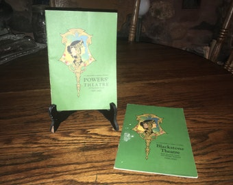 2 Vintage Theater Programs - Blackstone And Powers From The 1920's