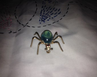 Vintage Blue SPIDER Jelly Pin