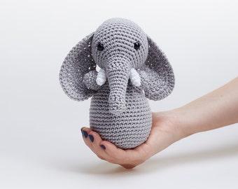 Soft Elephant Toy,Stuffed Elephant,Crochet Elephant,Plush Elephant,Elephant Doll,Soft Toys For Kids,Elephant,Baby Soft Toys,Elephant Plushie