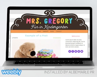 Premade Weebly Template Teacher Blog Classroom Lessons - Mrs. Gregory