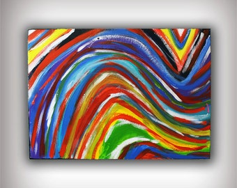 Acrylic Abstract Canvas Painting 31x24 Original Modern Wall Art - I am You