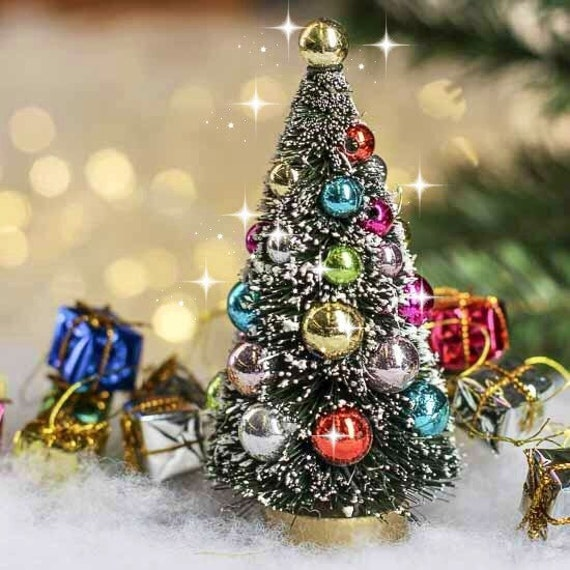 Fairy garden christmas tree miniature by dreamfairygardens for Miniature tree decorated with sea shells