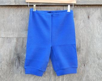 Soviet -Time Vintage Wool Underwear Extra Warm Ladies Blue Knickers Blue Underpants Wool Mix Made in USSR  era 1980 s