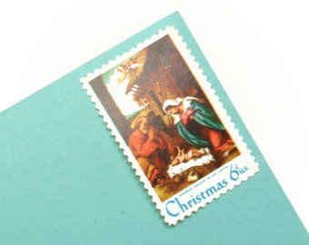 25 Nativity Scene Postage Stamps - 6c - Vintage 1970 - Unused - Quantity of 25 - Christmas - Holiday