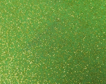 Key Lime Glitter Marine Vinyl 9 x 12 Inch Sheet