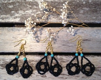 Beaded knot earrings