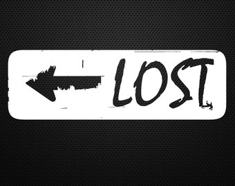 Lost decal........Adventure, Camping, Hiking, Travel, Bumper, Sticker, Decal......Cool!