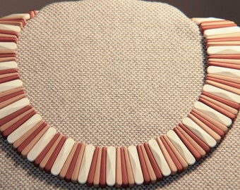 """Avon """"Sirocco Stick"""" Wide Collar Necklace Earth Tones Vintage 1988~~50 % Off ReDUCED"""