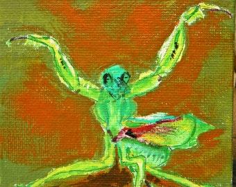 Praying Mantis - Original Painting