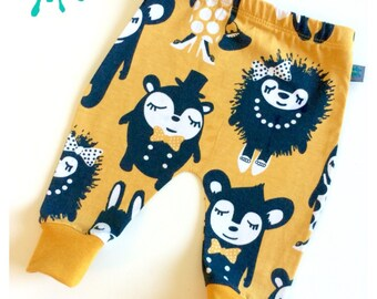 NEW Baby clothes, party animals baby leggings, organic baby clothes, leggings, girl leggings, boy leggings, baby trousers, baby pants, baby