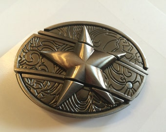 Star Belt Buckle with Knife included