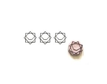 Geometric Pattern Rubber Stamp | 005034