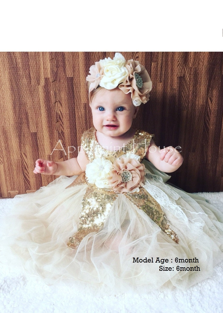 3m 6 baby glitter gold dress baby girl birthday by for Wedding dresses for babies