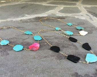 5 Stone Turquoise Necklace