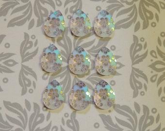 25x23mm AB sew-on drop gems
