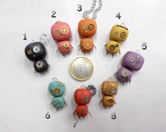 necklace with small robots (with gears true!)
