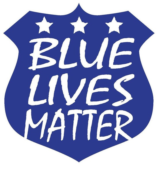 Blue Lives Matter Decal by ChunkyMonkeyBeeds on Etsy