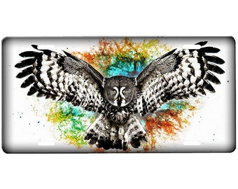 Owl  License Plate