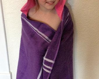 Hooded Towel, Bath Towel, Kids Towel, Kids Hooded Bath Wrap, Kids Hooded Beach Towel, Beach Towel, Kids Hooded Towel
