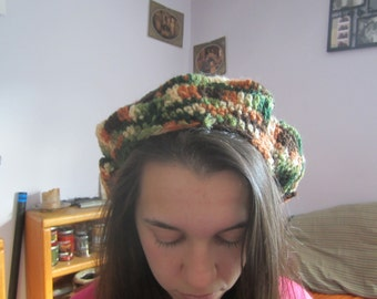 Crocheted slouch hat