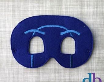 Felt Embroidered Mask - Night Ninja Mask - Kid & Adult - Pretend Play - Halloween Costume