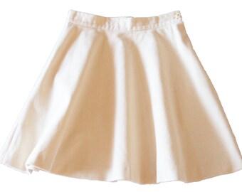 corduroy skirt eco white organic cotton circle skirt skater skirt