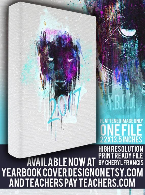 Yearbook Cover Design : Yearbook cover design painted panther