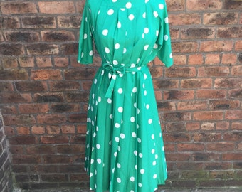 80's poka dot dress